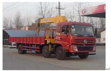 程力威牌CLW5251JSQT4型随车起重运输车