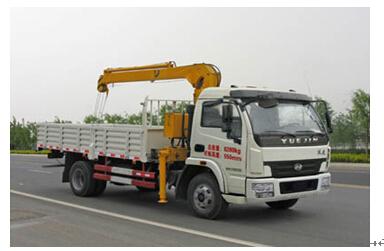 程力威牌CLW5080JSQN4型随车起重运输车