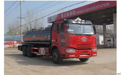 程力威牌CLW5254GFWC4型腐蚀性物品罐式运输车