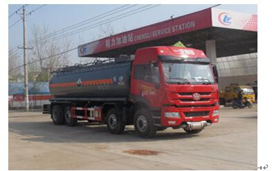 程力威牌CLW5316GFWC4型腐蚀性物品罐式运输车