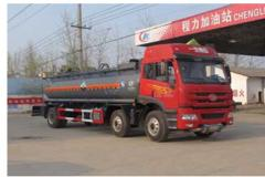 程力威牌CLW5255GFWC4型腐蚀性物品罐式运输车