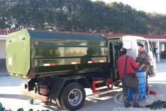 福田5方侧装挂桶式垃圾车