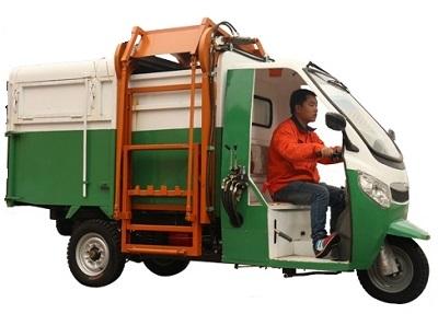 电动三轮挂桶保洁车