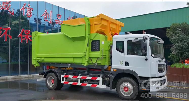 东风D9大多利卡16吨勾臂式垃圾车