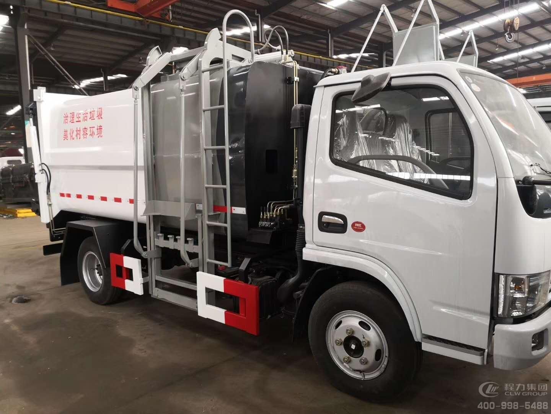 国六东风小多利卡7.5方侧压挂桶垃圾车 CLQ5070ZZZ6