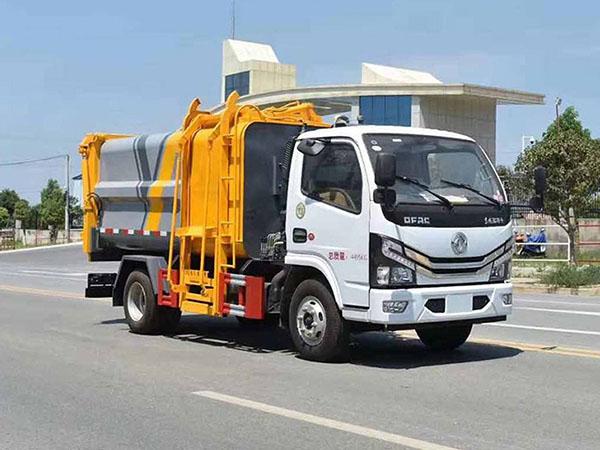 国六东风多利卡5方侧装挂桶垃圾车CLW5040ZZZLS6